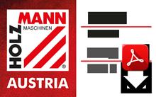 katalóg drevooobrábacích strojov a príslušenstva (nemecky, anglicky)